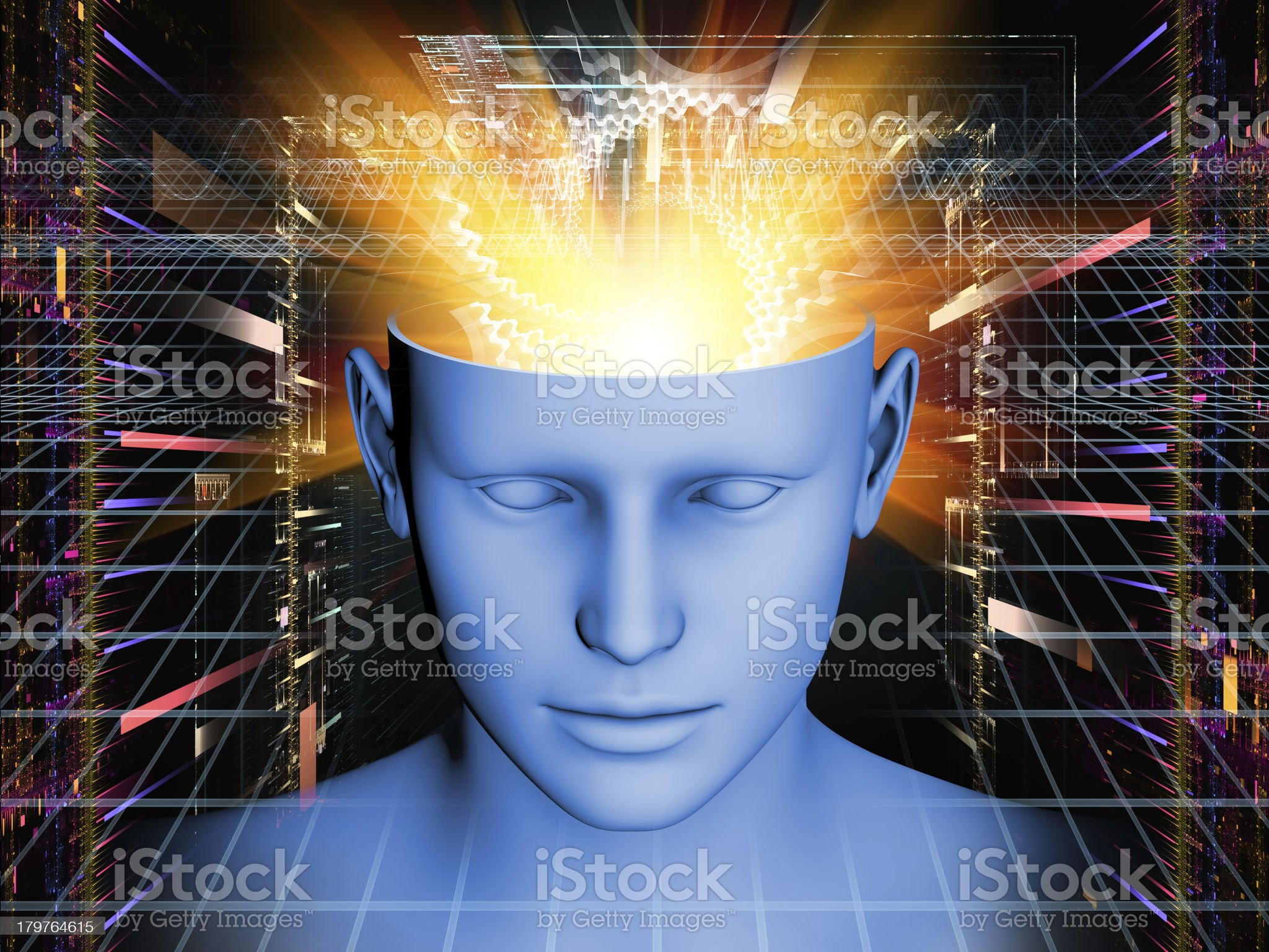 Mind Visualization royalty-free stock vector art
