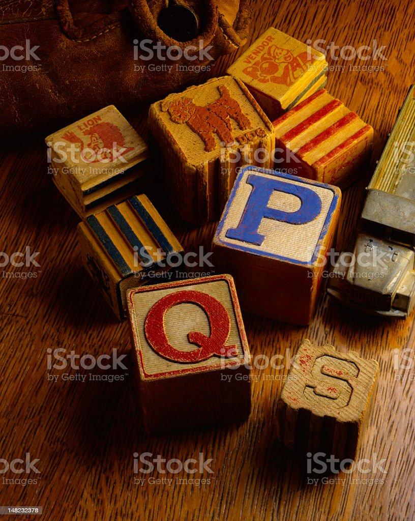 Mind Your P's & Q's stock photo