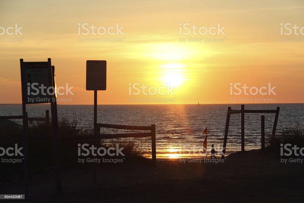 Mindal Beach Markets Sunset stock photo