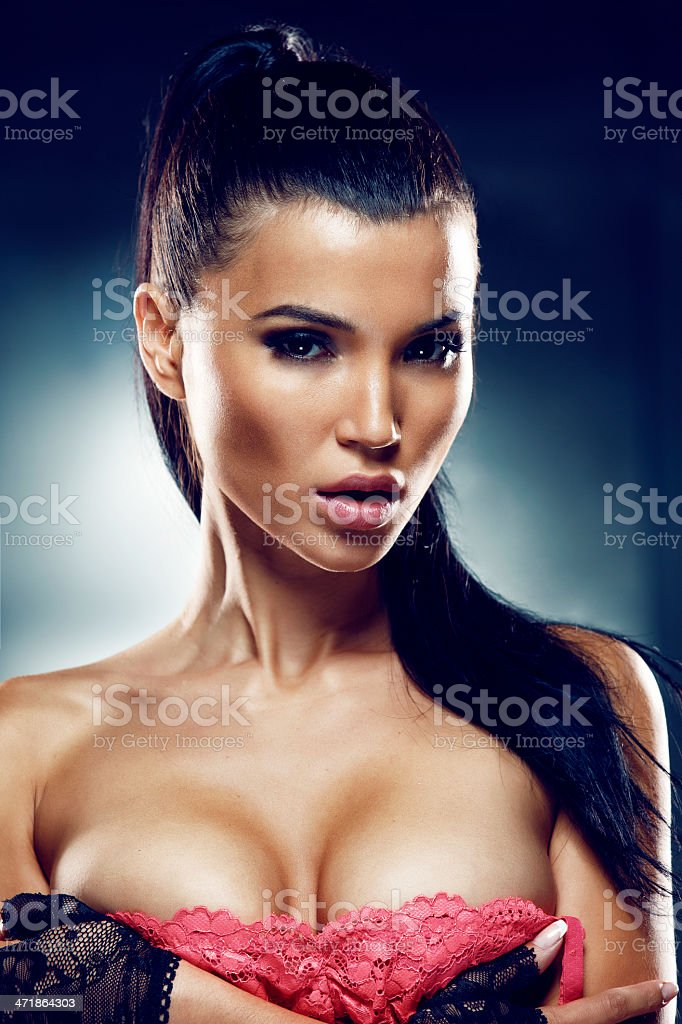 Mind-blowing beauty girl. stock photo