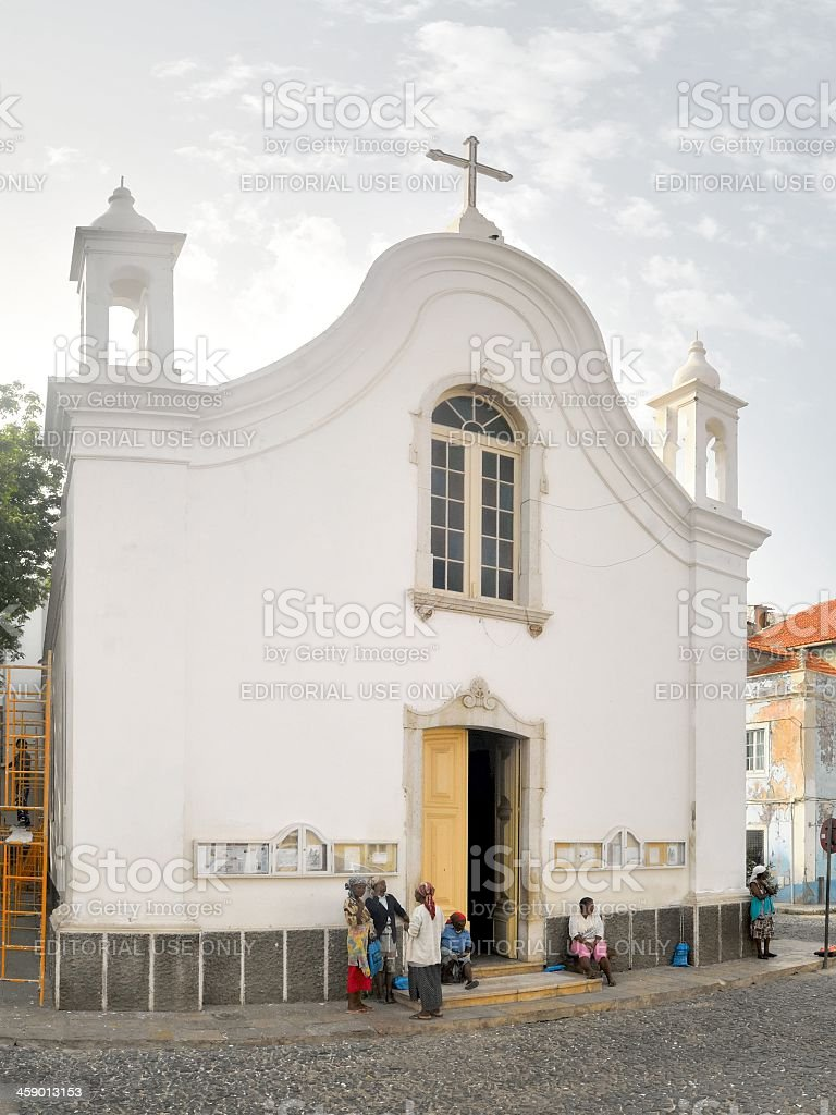 Mindelo Church  Our Lady of Light royalty-free stock photo