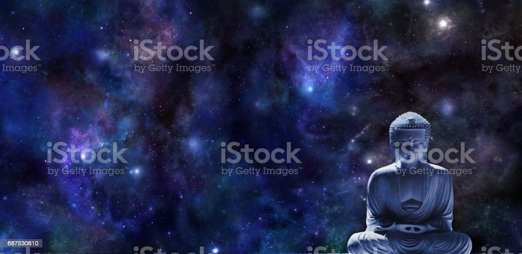 Mindfulness Meditation Banner stock photo