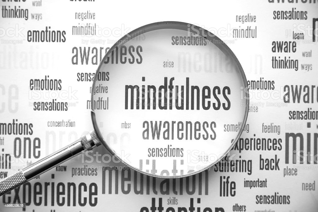 Mindfulness stock photo