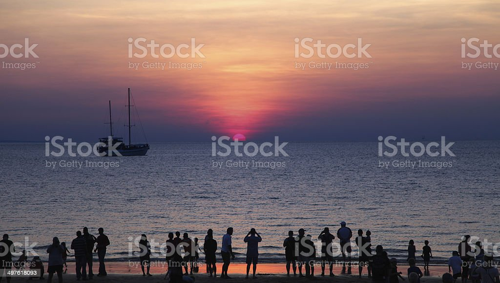 Mindil Beach sunset stock photo