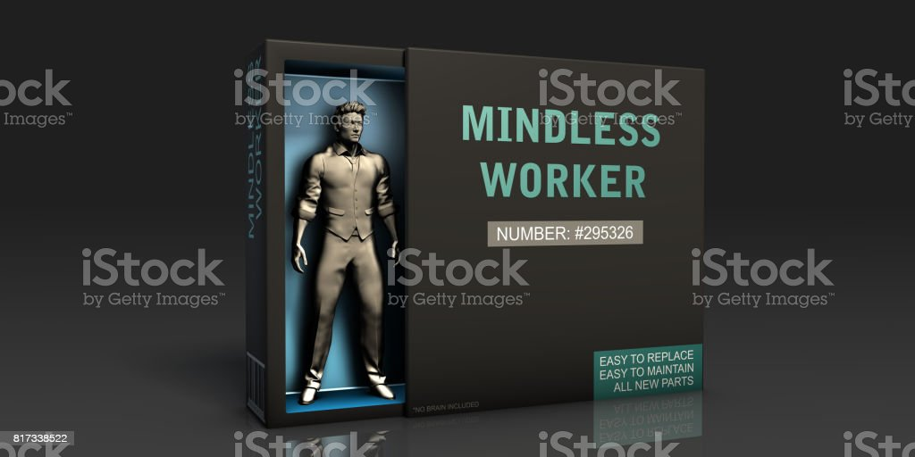 Mindless Worker stock photo
