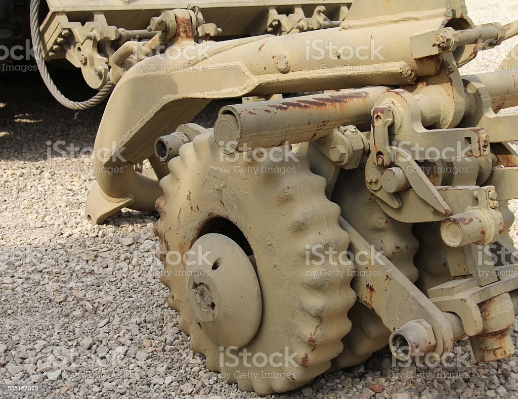 Mine Clearing Roller System (MCRS) stock photo
