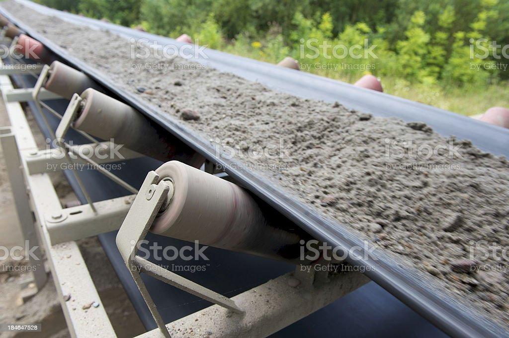 Mine conveyor royalty-free stock photo