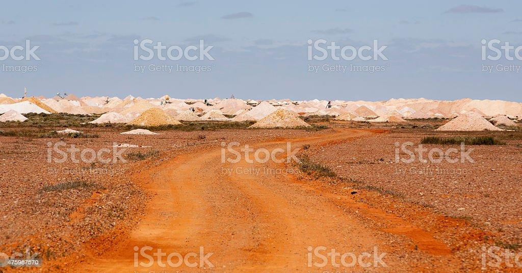 mine dumps coober pedy Australia stock photo