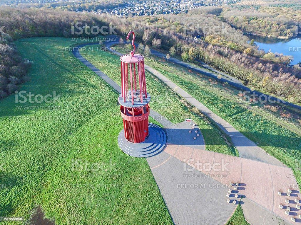 Mine lamp build by Otto Piene stock photo