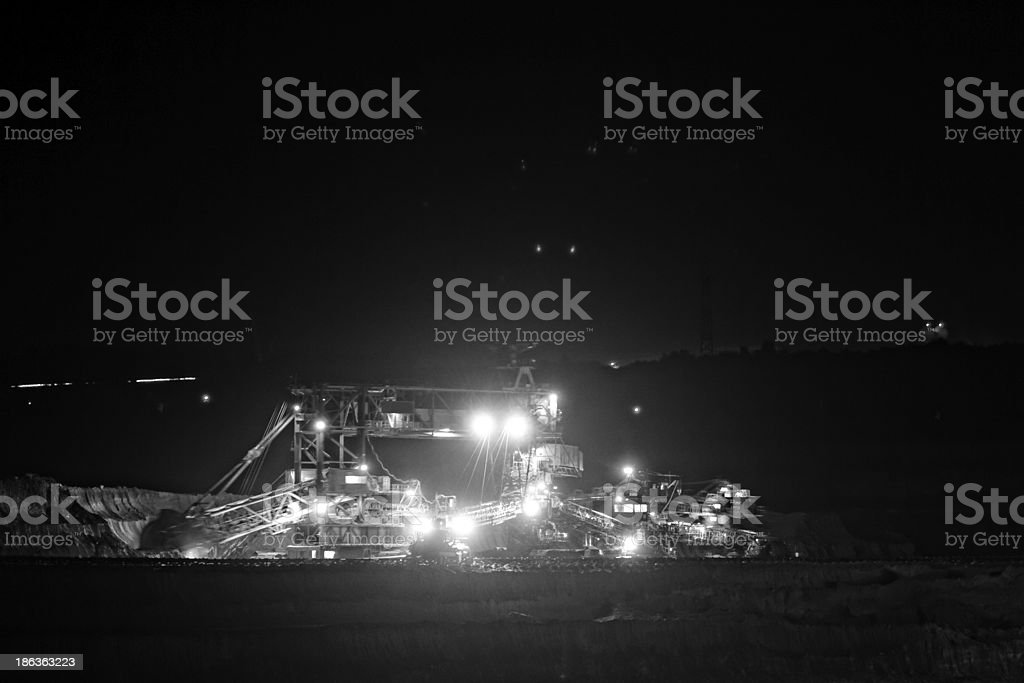 Mine machine royalty-free stock photo