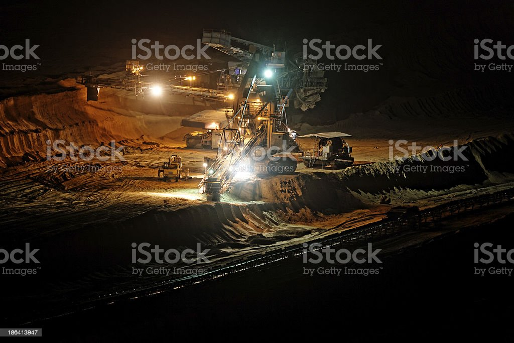 Mine machine royalty-free stock photo