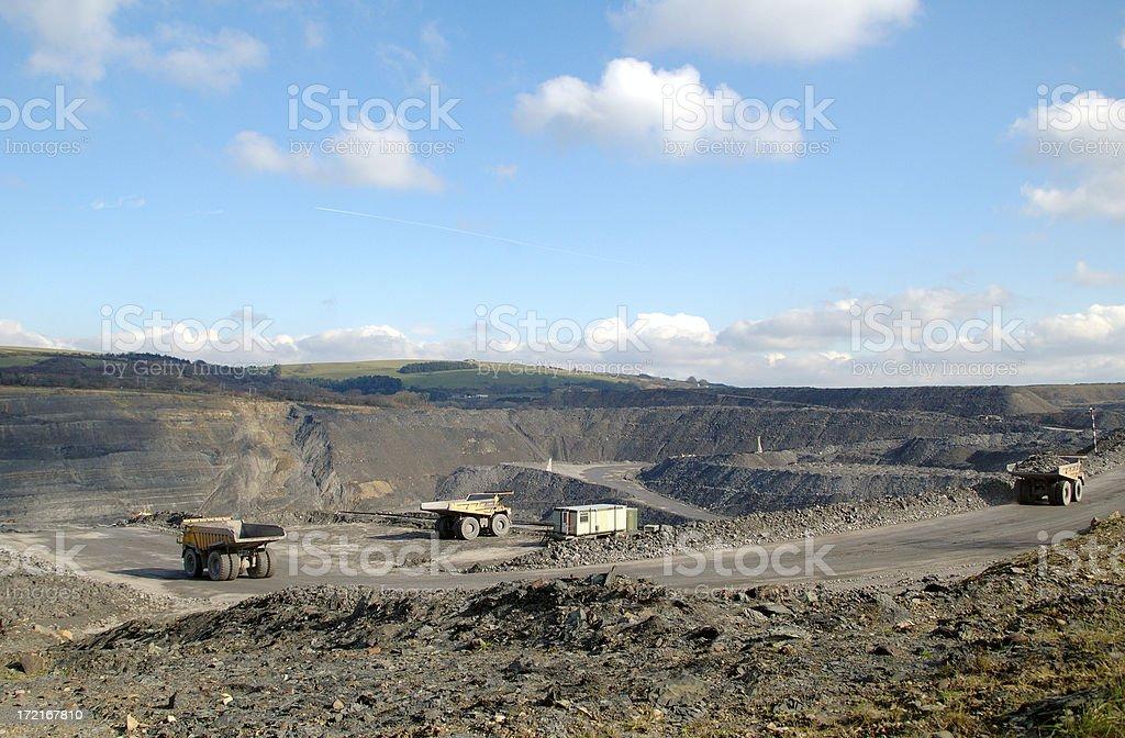 mine pit royalty-free stock photo