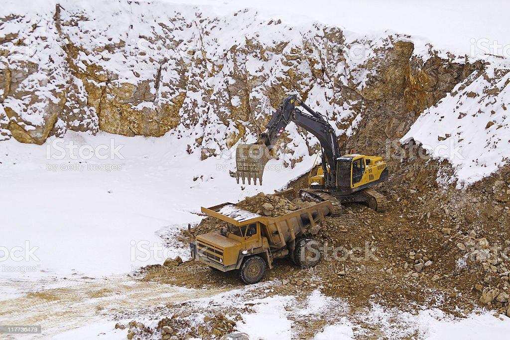 Mine stone royalty-free stock photo