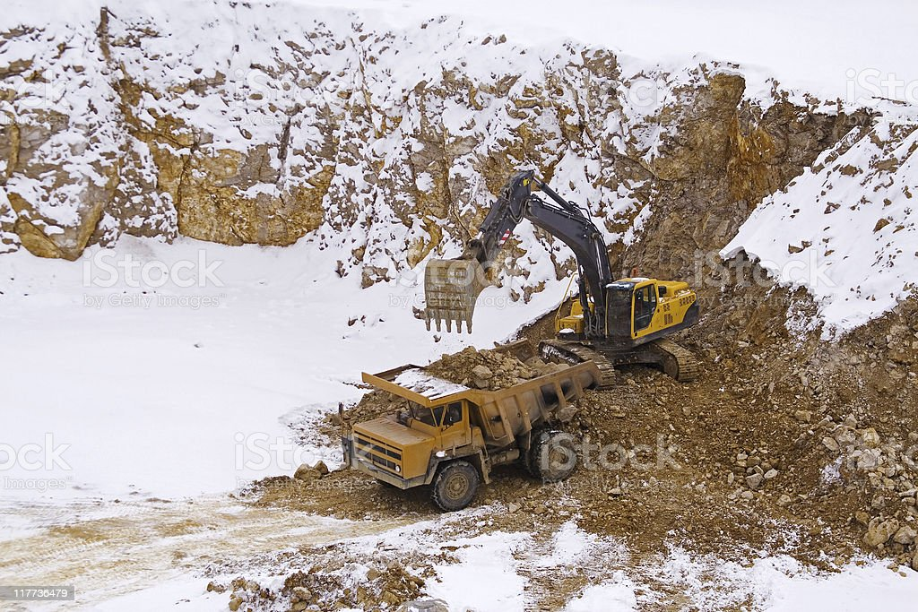 Mine stone stock photo