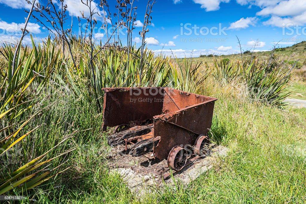 Mine trolley stock photo