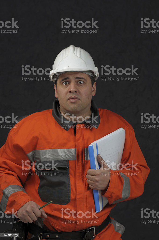 mine worker with file royalty-free stock photo