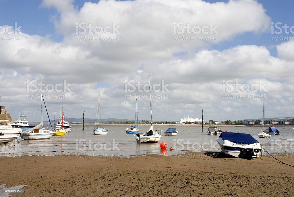 Minehead Beach stock photo
