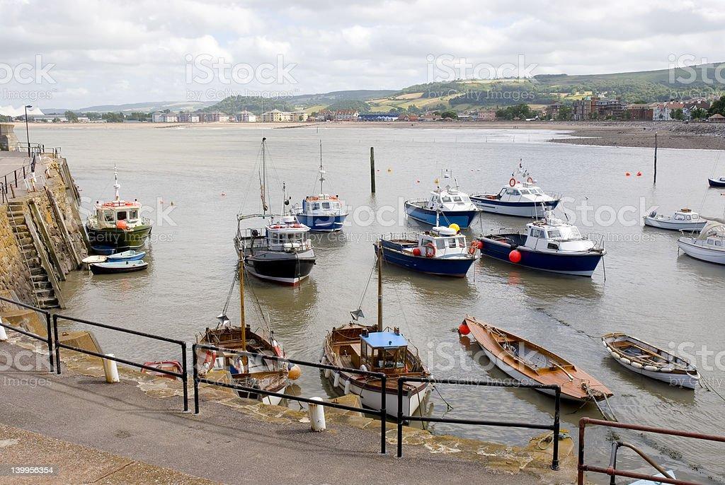 Minehead Harbour stock photo