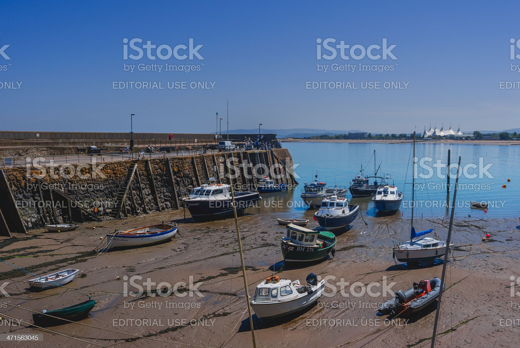 minehead harbour royalty-free stock photo