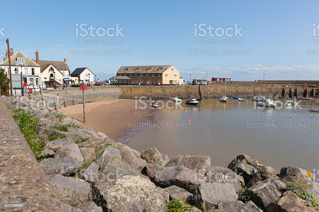Minehead Somerset beautiful summer weather calm sailing conditions in harbour stock photo