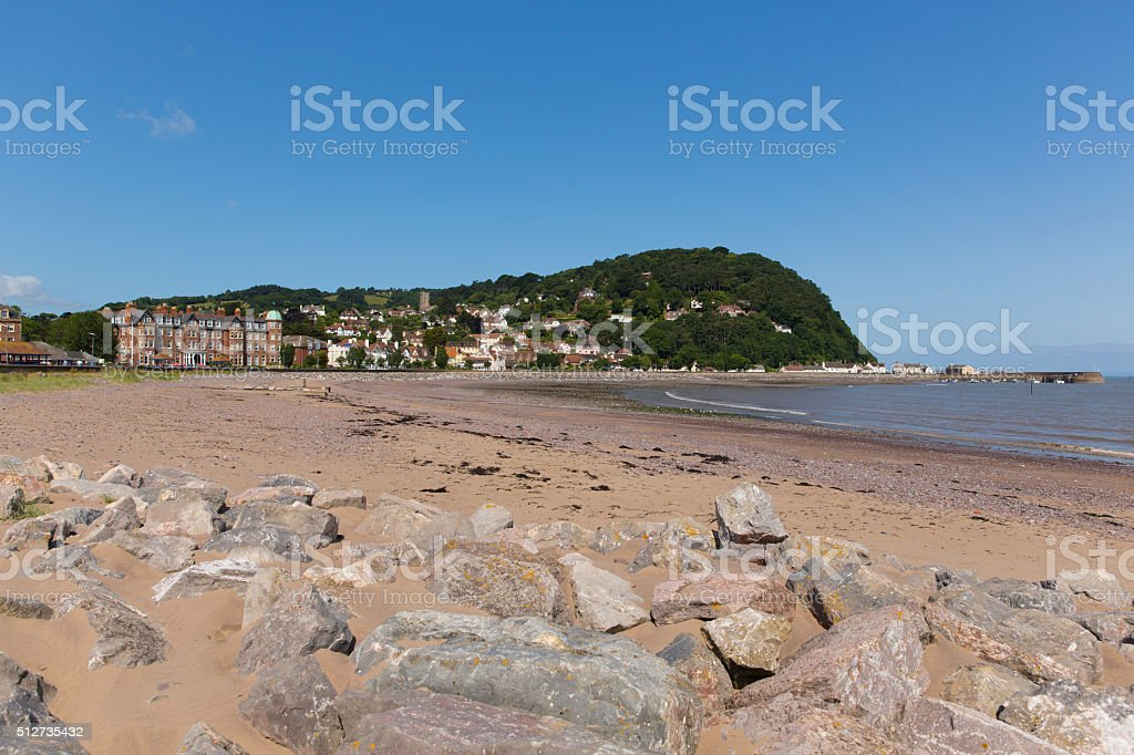 Minehead Somerset England UK beach and seafront in summer stock photo