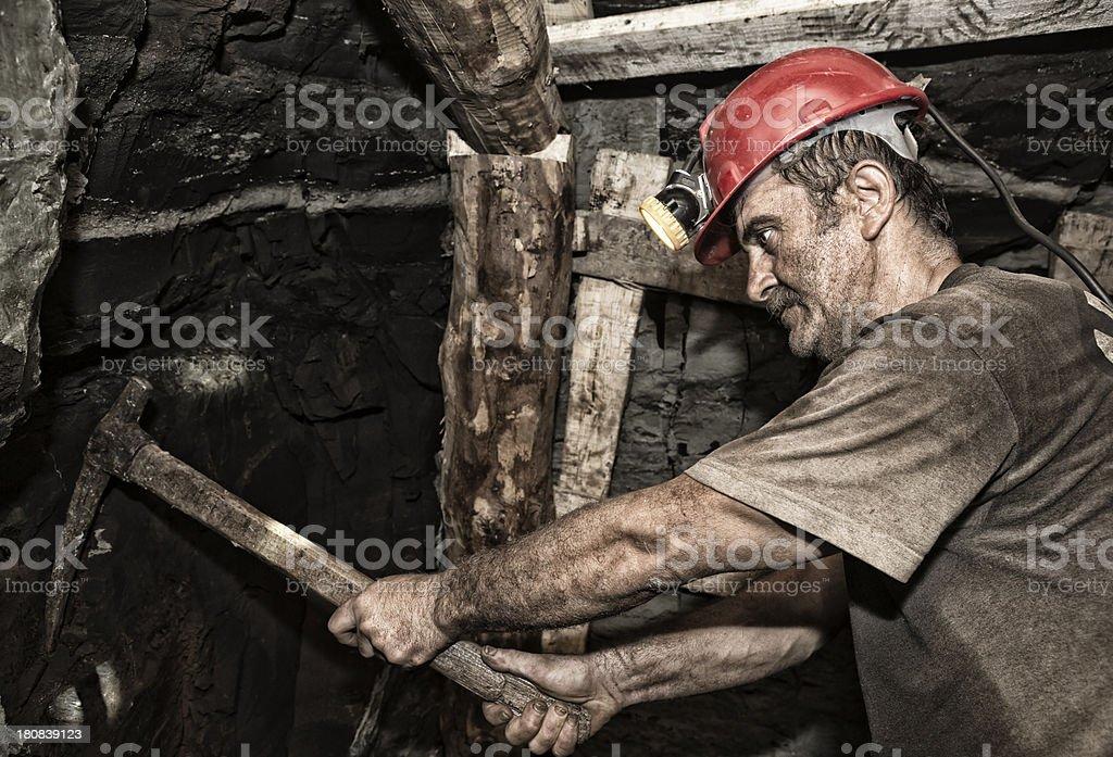 Miner royalty-free stock photo