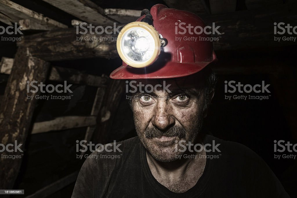 Miner royalty-free stock photo