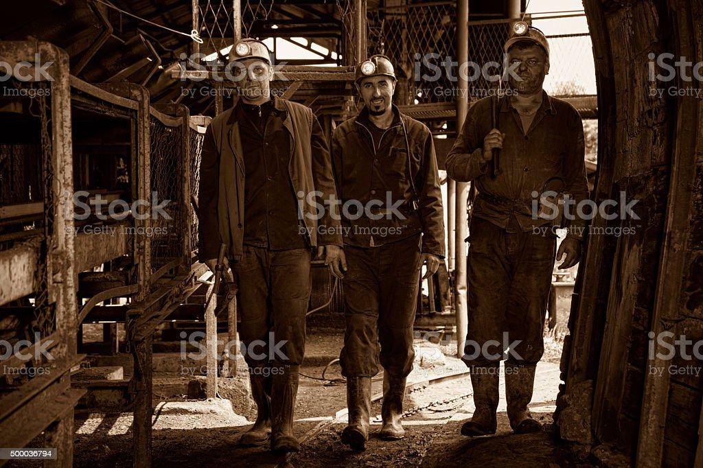 Miner stock photo