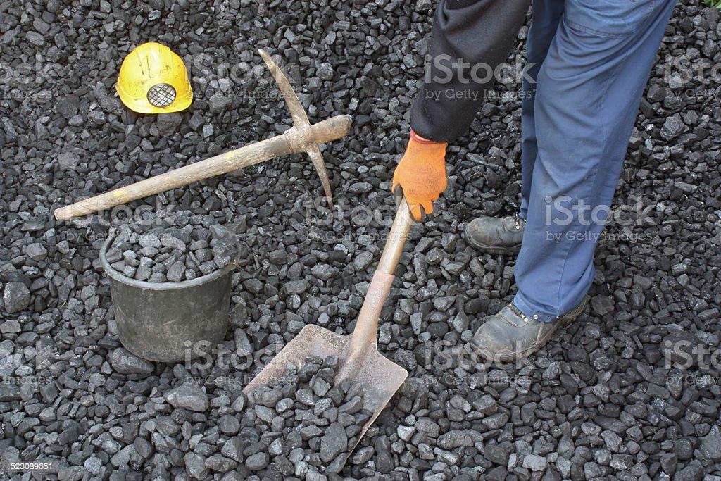 Miner working stock photo