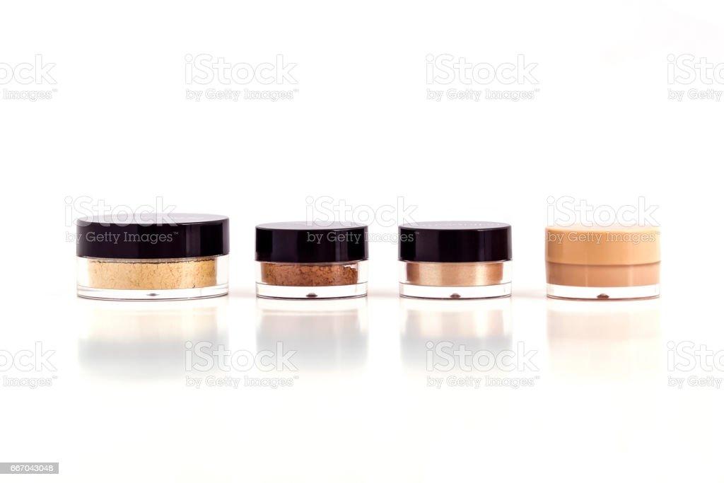 Mineral beauty makeup kit stock photo
