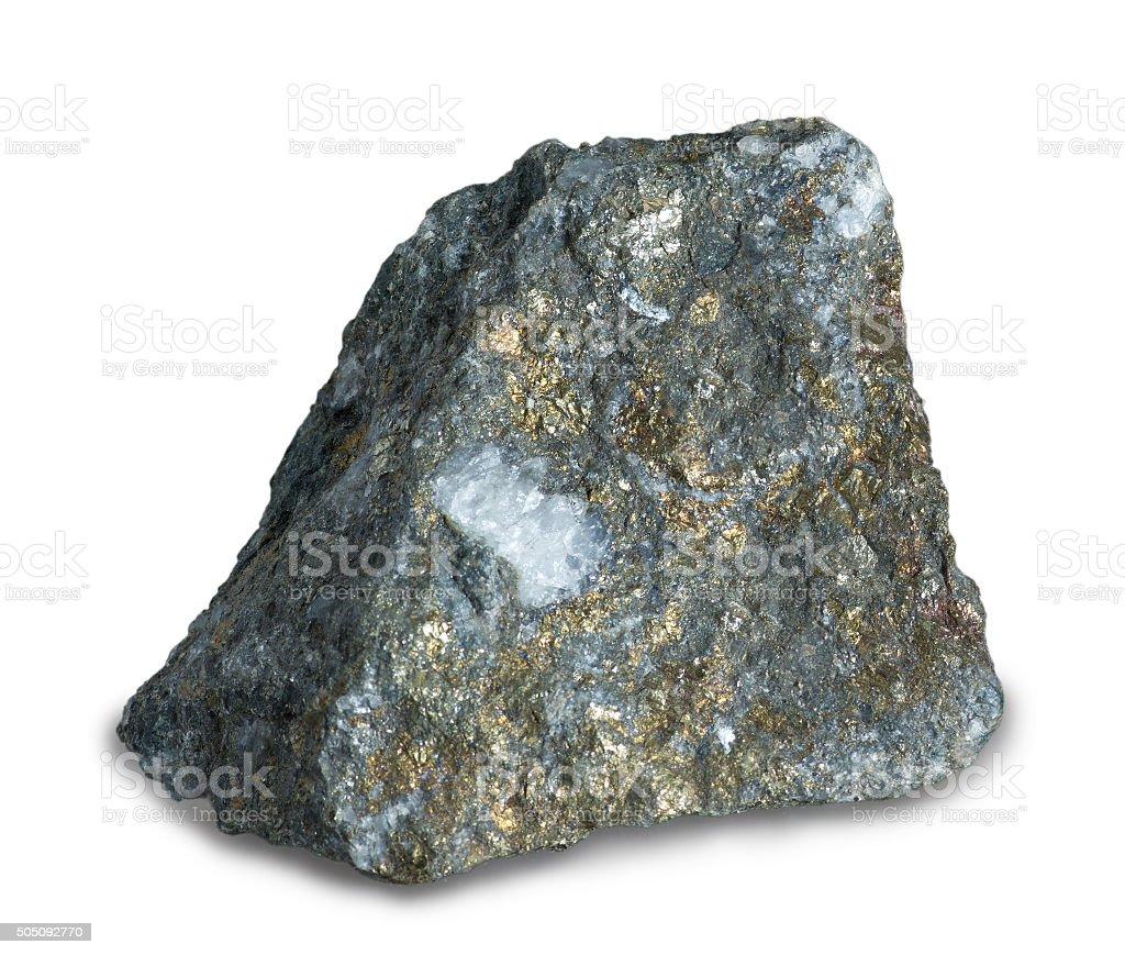 Mineral  chalcopyrite stock photo