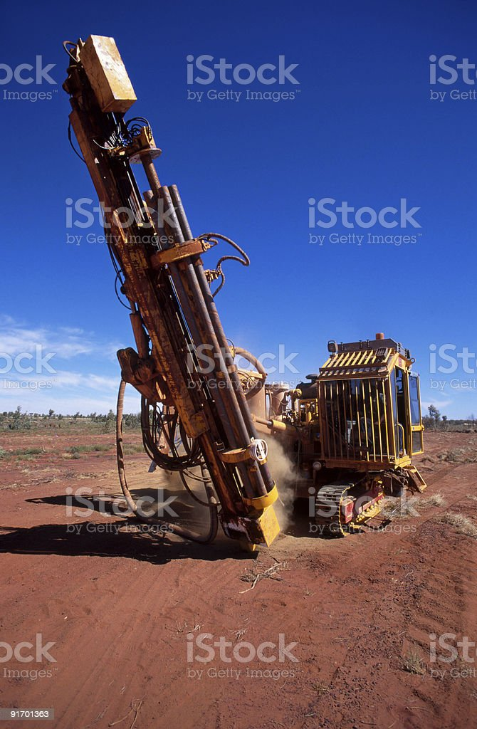 Mineral Exploration royalty-free stock photo