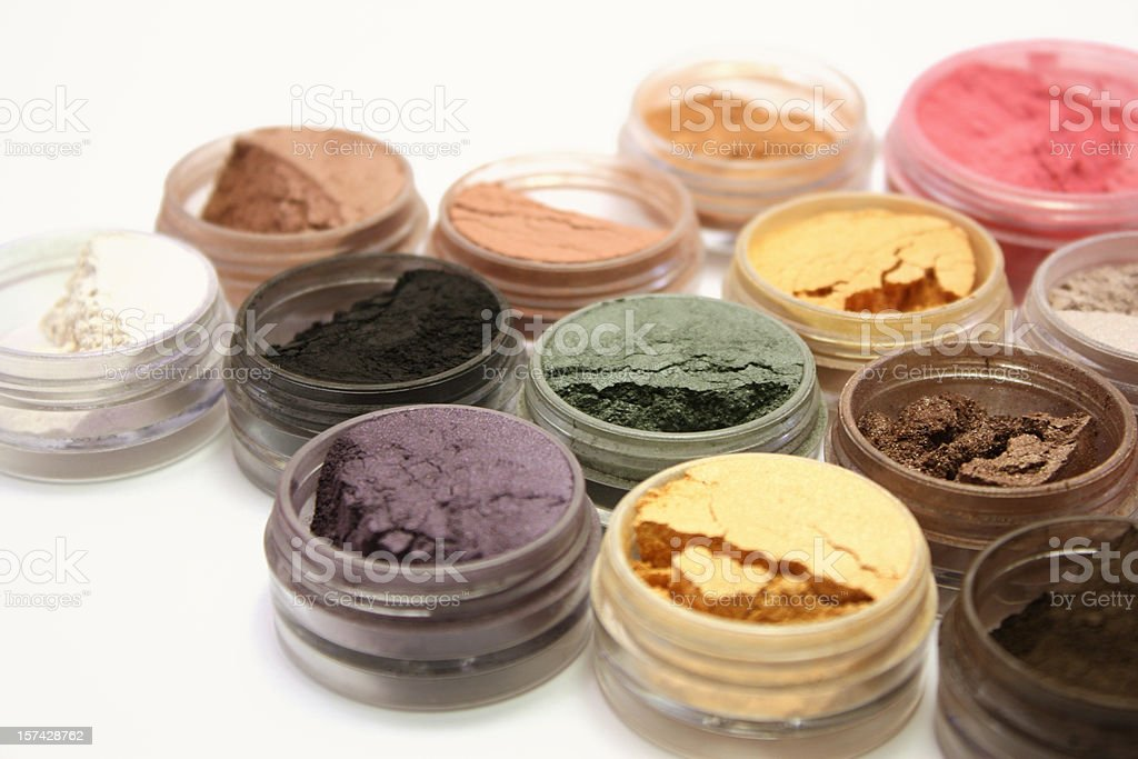 Mineral Eyeshadows royalty-free stock photo