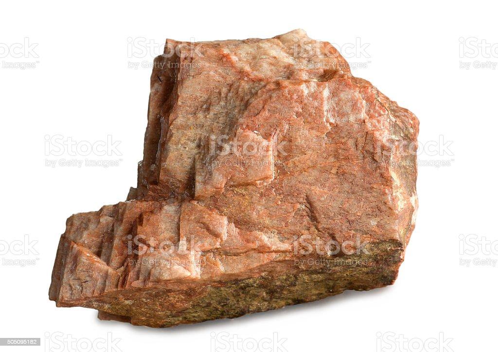 Mineral feldspar isolated on white stock photo