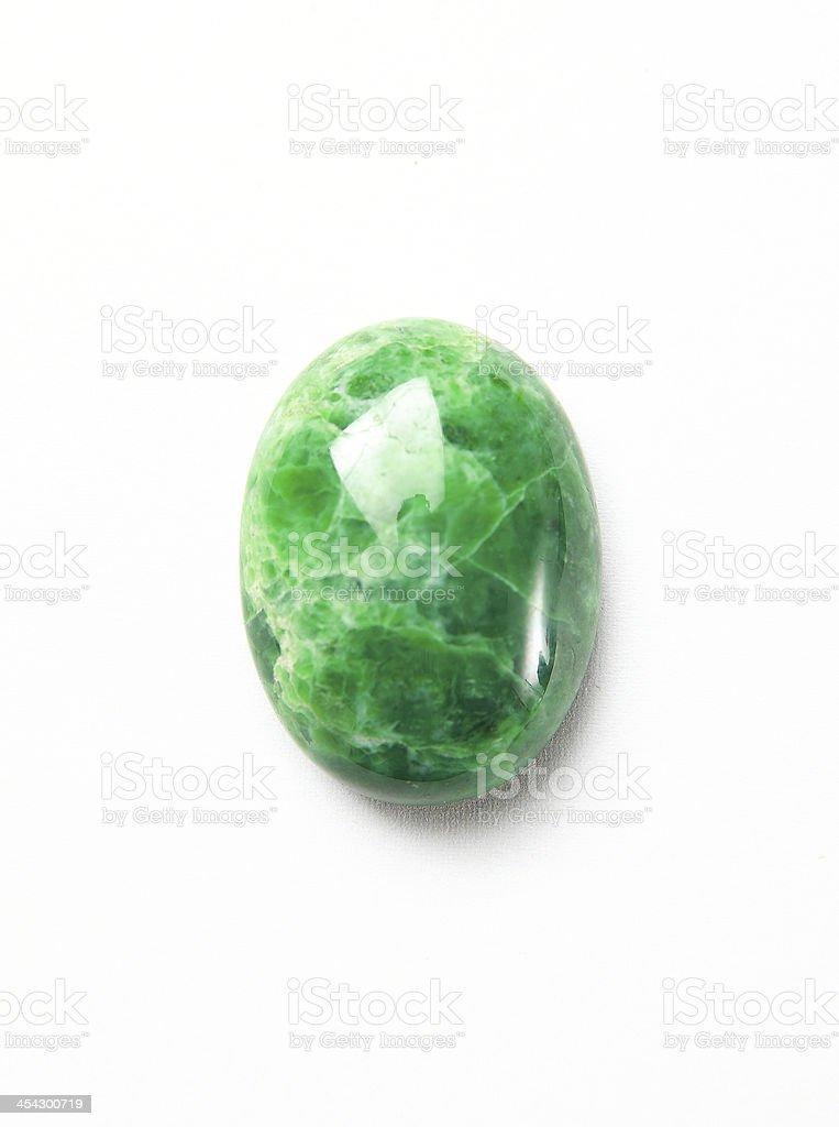 mineral jadeite on a white background stock photo