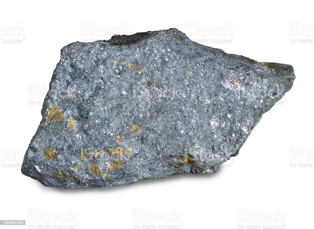 Mineral lead glance (galena) stock photo
