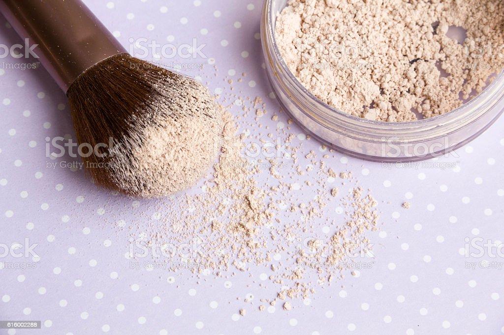 mineral Makeup powder stock photo