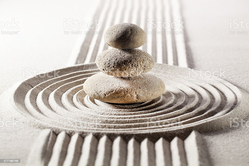 mineral meditation for relaxation royalty-free stock photo