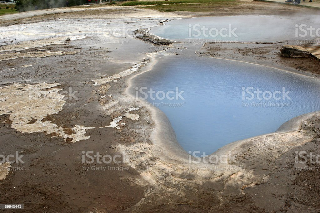 Mineral Pools, Iceland royalty-free stock photo