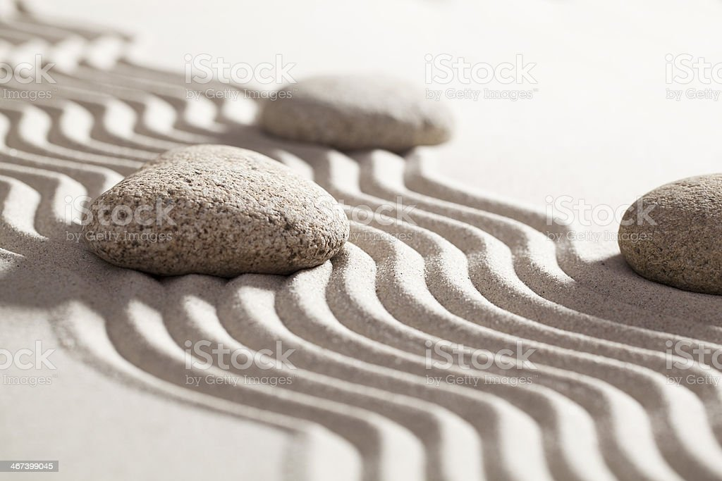 mineral silence with pebbles royalty-free stock photo