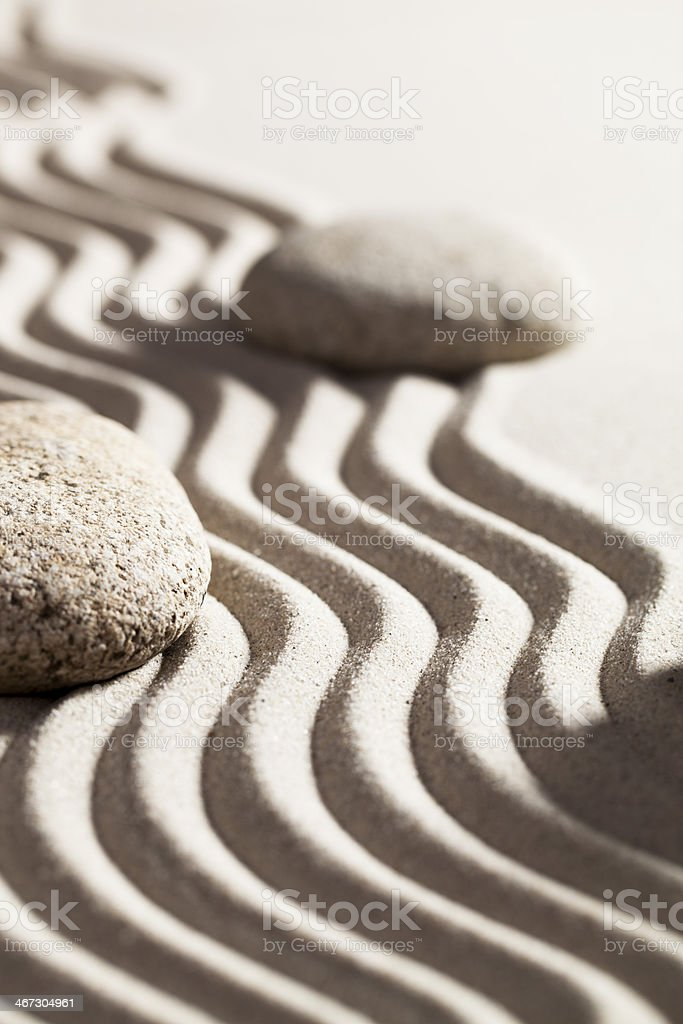 mineral silence with white sand and stones royalty-free stock photo