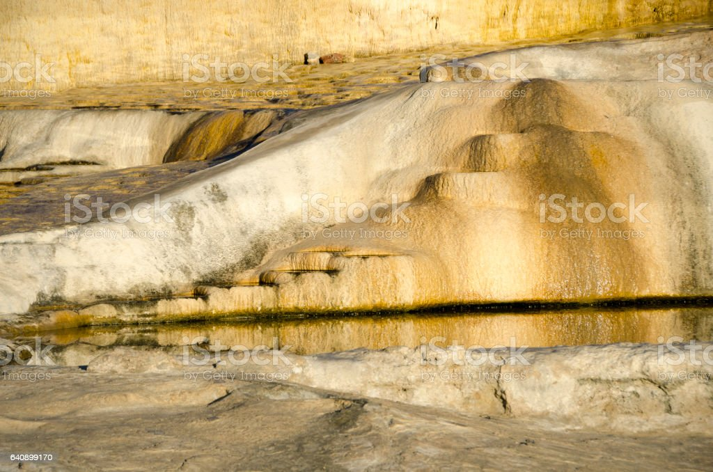 mineral springs at Hierve el Agua, Oaxaca, Mexico stock photo
