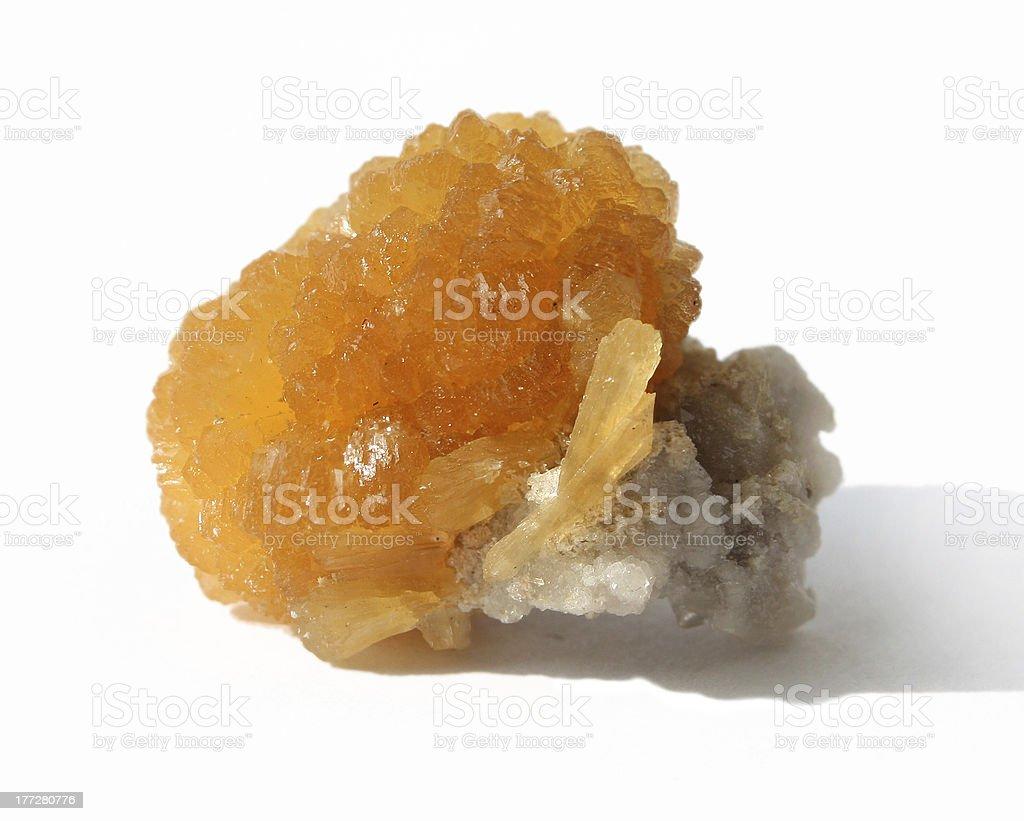 Mineral - Stilbite royalty-free stock photo