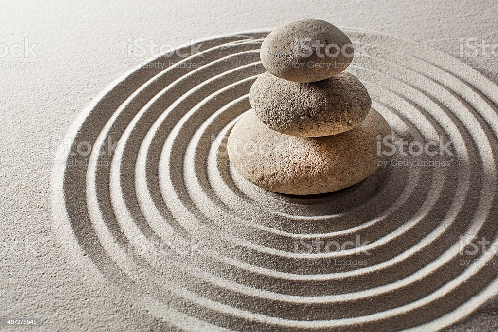 mineral tranquility with balancing pebbles stock photo