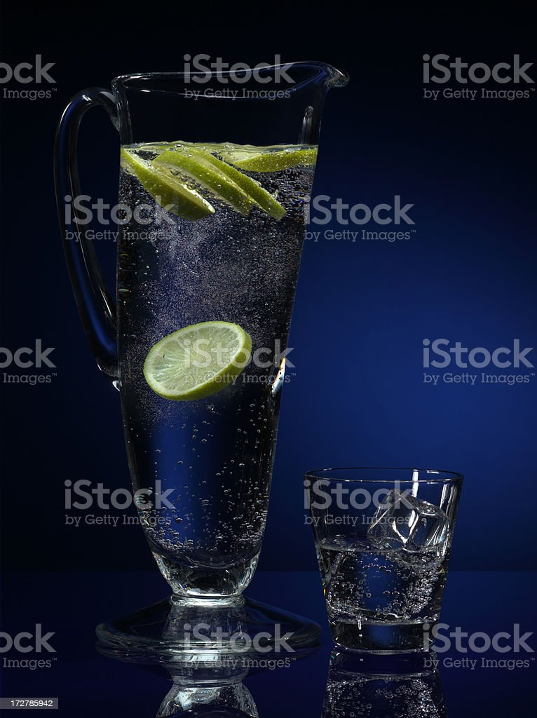 mineral water and lemon royalty-free stock photo
