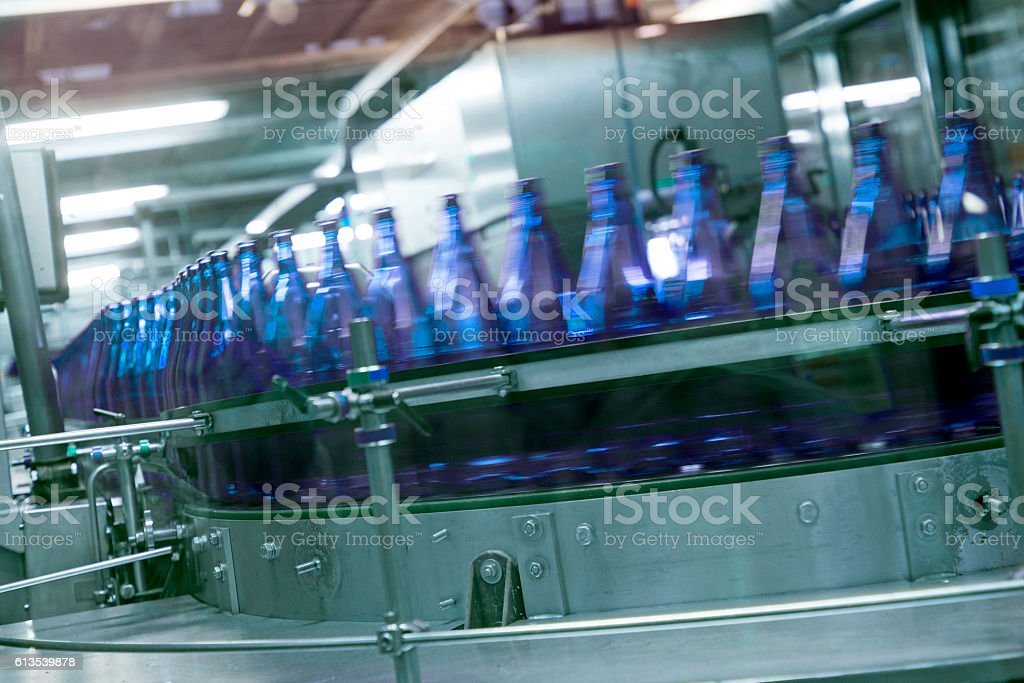 mineral water factory stock photo
