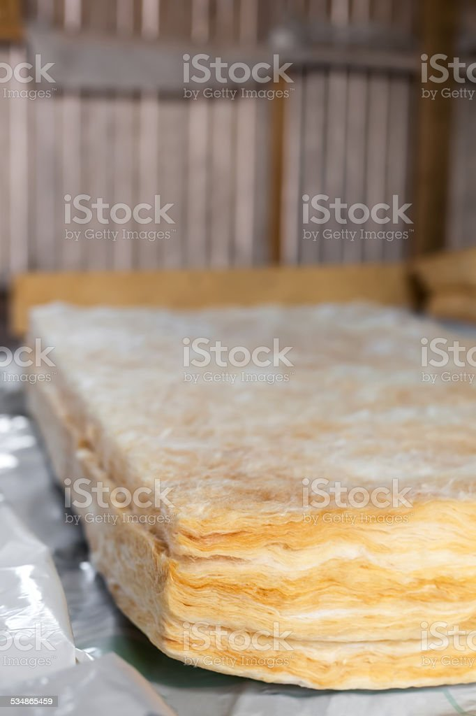 Mineral wool stock photo