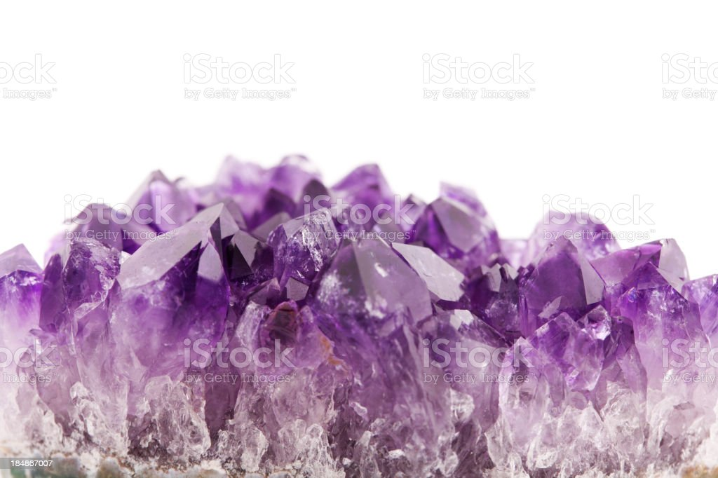 Minerals and crystals - Amethyst royalty-free stock photo
