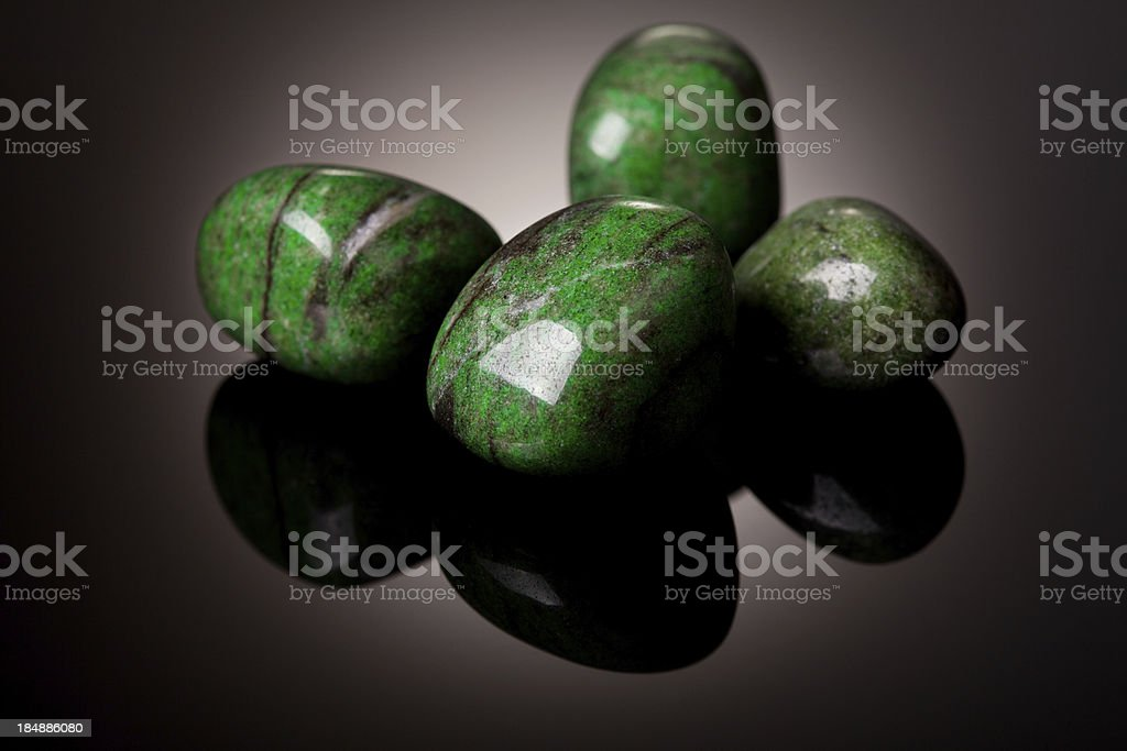Minerals and crystals - Jade royalty-free stock photo