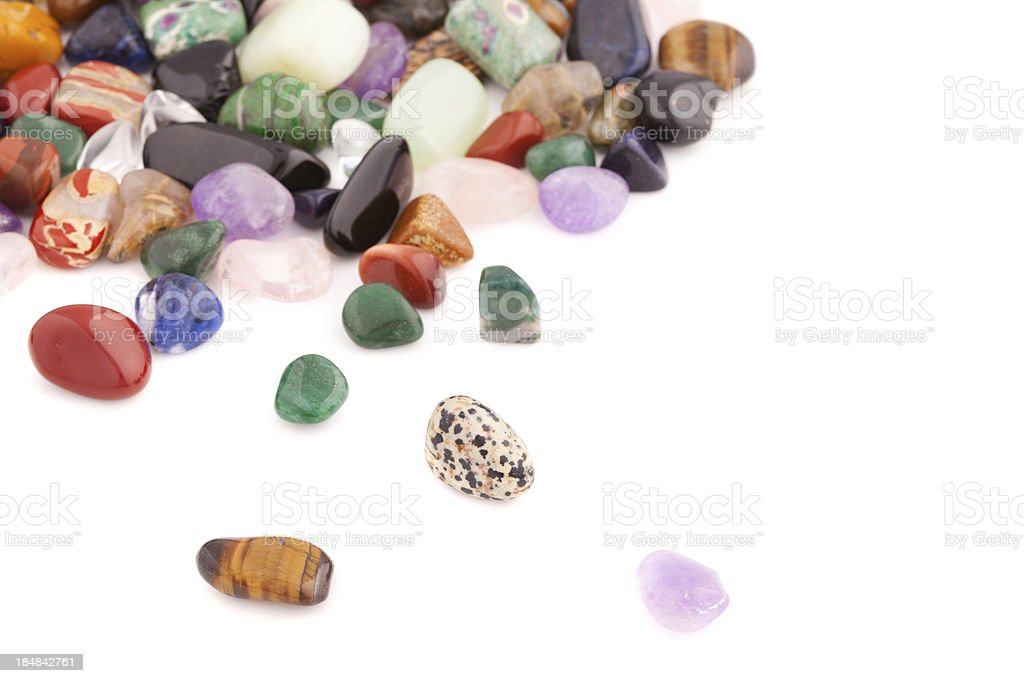 Minerals and crystals - Many different kinds royalty-free stock photo
